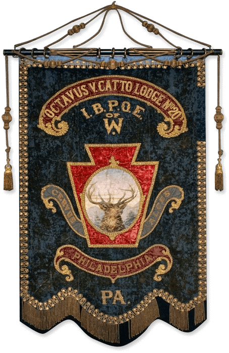 O.V. Catto Elk Lodge Banner, courtesy of Philadelphia History Museum