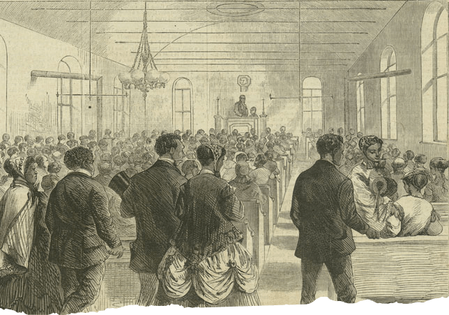 National Colored Union Convention by Theodore R. Davis, Harper Weekly, February 1869