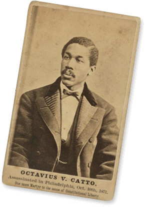 Octavius Catto, Broadbent and Phillips Albumen silver print 1871, National Portrait Gallery
