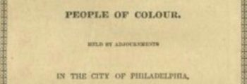 Negro Convention Movement, Philadelphia