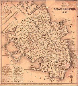 1849 Map of Charleston